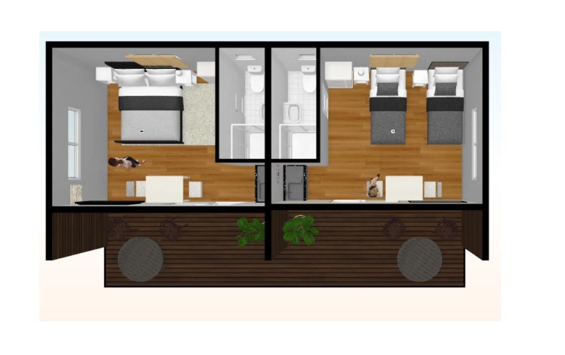 40m2 bed 2D